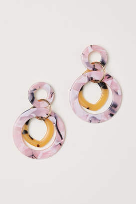 H&M Round Earrings - Pink