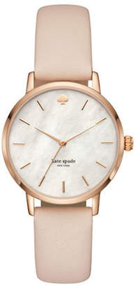 Kate Spade Metro Rose Goldtone Stainless Steel Leather Strap Watch