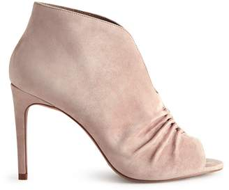 Reiss Our last order date for Christmas has now passed ELIZABETHA OPEN-TOE RUCHED ANKLE BOOTS Blush