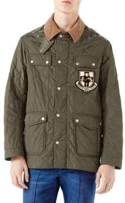 Gucci Quilted Applique Nylon Jacket