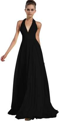 ThaliaDress Chiffon Halter Bridesmaid Dress Prom Gown T276LF US