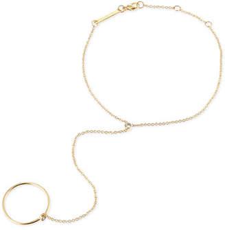 Chicco Zoe 14k Yellow Gold & Round Diamond Hand Chain