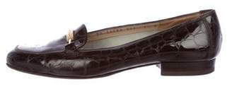 Salvatore Ferragamo Patent Leather Embossed Loafers