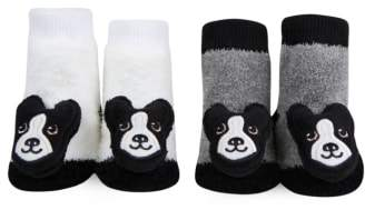 Waddle 2-Pack Boston Terrier Rattle Socks