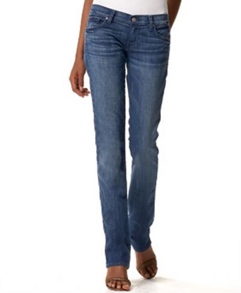 7 for all Mankind Ribbon Edie Skinny Jean, Bright Blue Sweden Wash