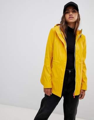 Hunter lightweight rubberised yellow rain mac
