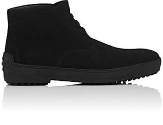 Tod's MEN'S SUEDE CHUKKA BOOTS - BLACK SIZE 12.5 M