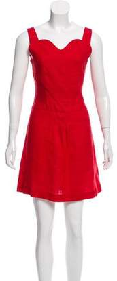 Vivetta Linen Sleeveless Mini Dress