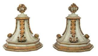 Pair of Painted Wood Wall Brackets