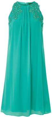 Dorothy Perkins Womens **Showcase Aquamarine 'Lily' Trapeze Dress