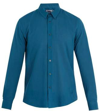 Vilebrequin Caracal point-collar cotton-voile shirt