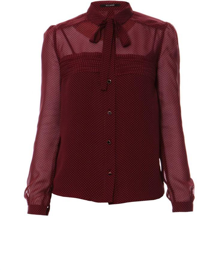 Kookai Women's Spotted silk blouse