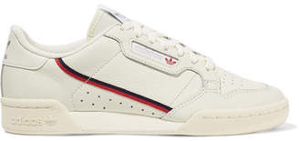 adidas Continental 80 Grosgrain-trimmed Leather Sneakers - White