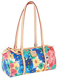 Dooney & Bourke Coated Cotton Watercolor Printed Barrel Bag $178 thestylecure.com