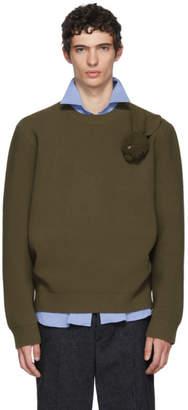 J.W.Anderson Khaki Bunny Brooch Crewneck Sweater