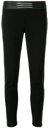 Versace logo plaque cropped trousers
