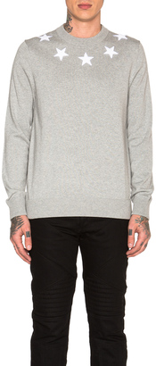 Givenchy Star Collar Crew Neck Jumper $745 thestylecure.com