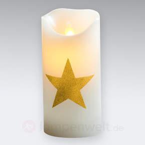 Goldfarbenes Dekor - LED-Kerze Sara Star