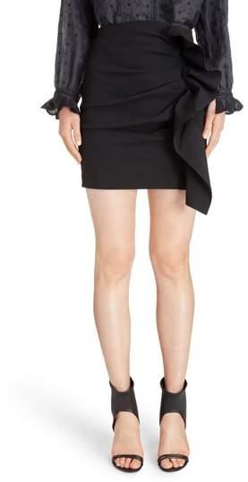 Lefly Ruffle Miniskirt
