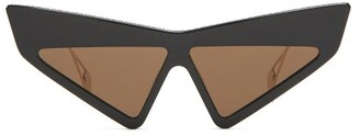 Gucci Hollywood Forever Cat Eye Acetate Sunglasses - Womens - Black