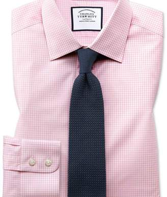 Charles Tyrwhitt Slim fit small gingham light pink shirt