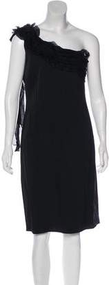 Valentino One-Shoulder Knee-Length Dress w/ Tags