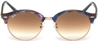 Ray-Ban 'Clubround Fleck' metal rim acetate round sunglasses