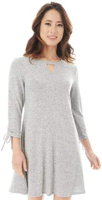 Iz Byer Juniors' Ruched Cutout Sweaterdress