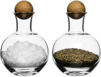 Sagaform Set of 2 Spice & Herb Storage Bottles with Oak Stoppers