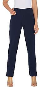 Women with Control Petite Convertible Pants w/Zipper Detail