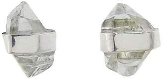 Melissa Joy Manning Herkimer Diamond Wrapped Stud Earrings - Sterling Silver