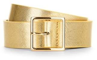 Time and Tru Ladies' Gold Metallic Pant Belt