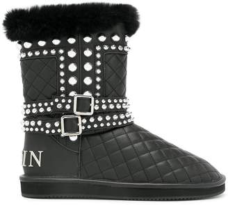 Philipp Plein studded quilted boots