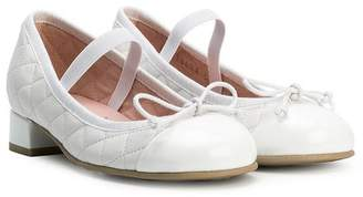 Pretty Ballerinas Kids quilted low heel ballerinas