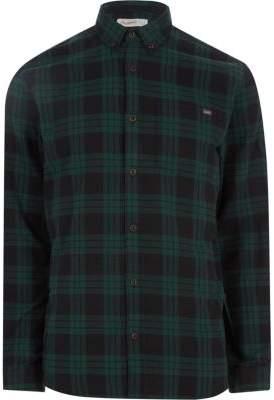River Island Jack and Jones Originals green check shirt