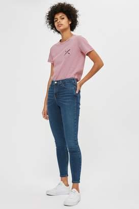 Topshop Womens Vintage Wash Jamie Jeans - Blue