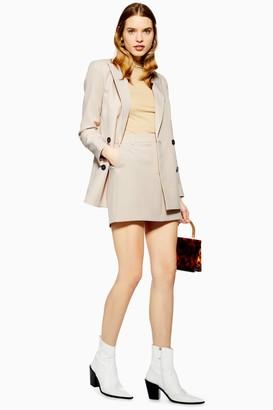 Topshop Womens Suit Pelmet Skirt - Stone
