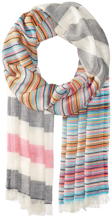 Echo Design - Multi Stripe Wrap Scarf Scarves