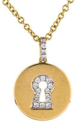 Kiki McDonough 18K Diamond Keyhole Pendant Necklace