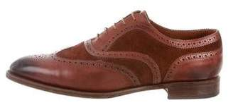 Edward Green Pointed-Toe Wingtip Brogues