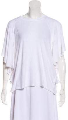 Current/Elliott Linen Distressed Short Sleeve Top