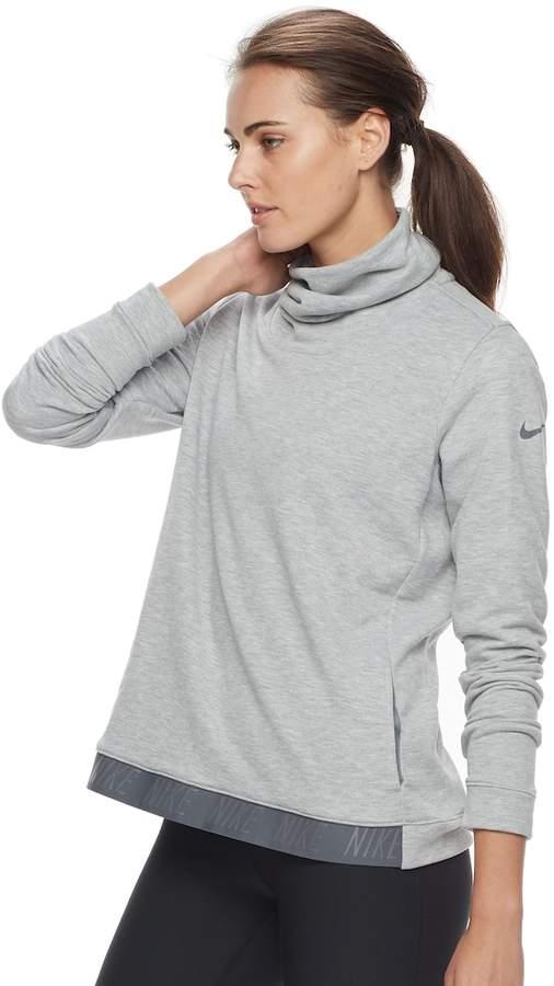 Women's Nike Dry Training Cowl Neck Running Top