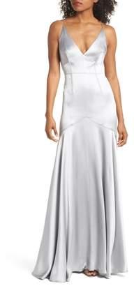 Jill Stuart Corset Detail Satin Gown