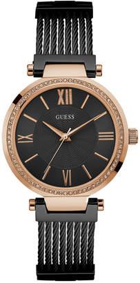 GUESS Women's Black Stainless Steel G-Link Bracelet Watch 36mm U0638L5