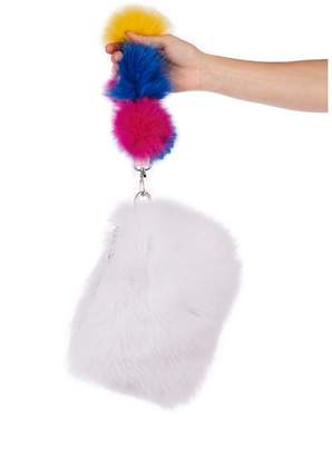Pandora Popski London Pom Pom Bag - Frost