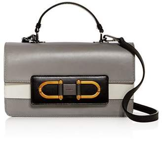 Furla Bellaria Small Top Handle Color-Block Leather Crossbody