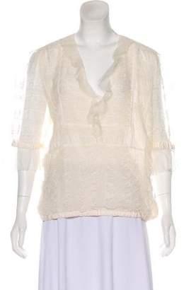 Ungaro Lace Short Sleeve Top