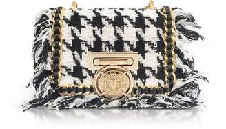 Balmain Tweed and Leather Baby Box Flap Bag