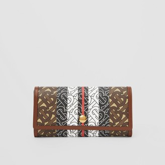 Burberry Monogram Stripe E-canvas Continental Wallet
