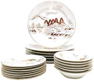One Kings Lane Vintage 20-Pc Japanese Porcelain Dinnerware Set - Jacki Mallick Designs